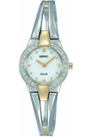 Seiko Damen-Armbanduhr XS Analog Quarz Edelstahl SUP052P1