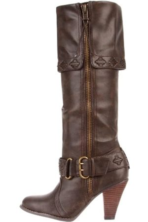 Not Rated Wild West Damen Kniehohe Stiefel, Braun (schokoladenbraun)