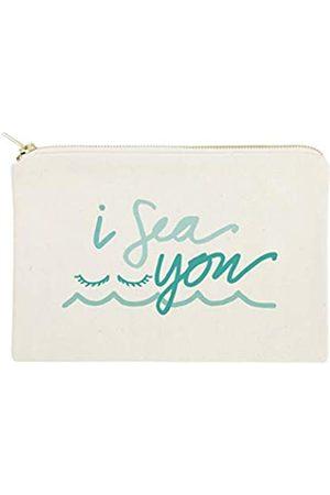 The Cotton & Canvas Co. Summer Beach Kosmetiktasche und Reise-Make-up-Tasche