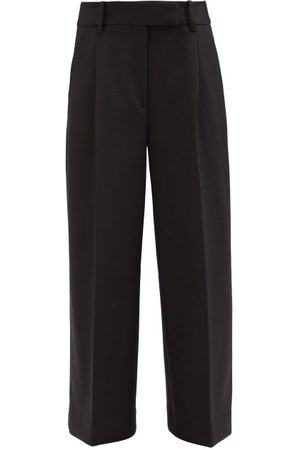 Khaite Maarte Wide-leg Pleated-twill Trousers