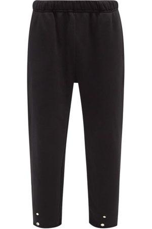 Les Tien Snap-front Brushed-back Cotton Track Pants