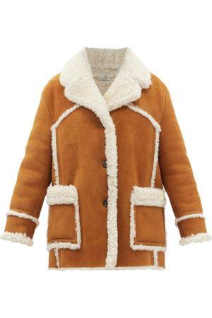 Miu Miu Shearling Suede Coat