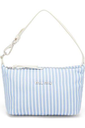 Miu Miu Striped-woven Canvas Shoulder Bag