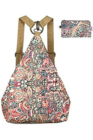 Black Butterfly Damen Schultertasche/Rucksack aus Segeltuch, klein