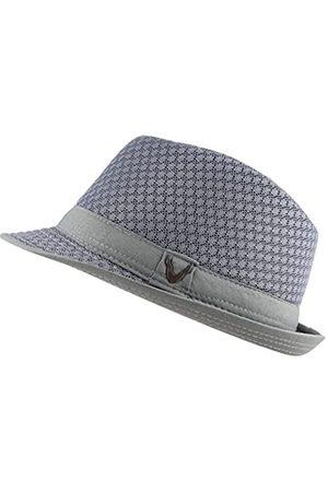 The Hat Depot Schwarzer Horn-Fedora-Hut, leicht, klassisch, weich
