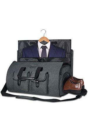 UNIQUEBELLA Handgepäcktasche großer Seesack Anzugtasche Reisetasche Wochenendtasche Flugtasche mit Schuhbeutel für Herren Damen (Dunkelgrau2) - 234296