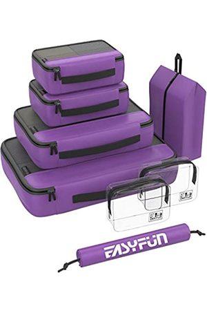 Easyfun Packing Cubes 8er-Set Gepäck-Organizer für Reisekoffer inklusive 2 Kulturbeutel und 2 Schuhtaschen