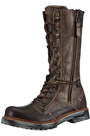 Yellow Cab Damen Apache W Combat Boots, (DKBRWN)