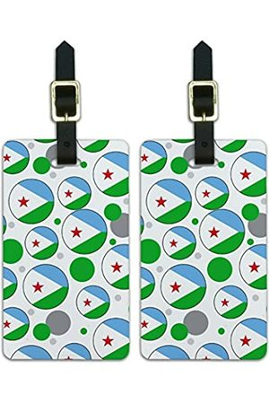 Graphics and More Graphics & More C-i-Djibouti Nationalflagge - Luggage.Tags.09566
