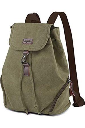 AtailorBird Canvas Rucksack Vintage Schulrucksack Leinwand Drawstring Rucksack Damen Casual Backpack Reise Daypack für Schule