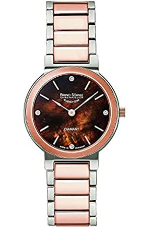 Soehnle Bruno Söhnle Damen Analog Quarz Uhr mit Edelstahl Armband 17-63108-492
