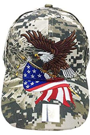aesthetinc Patriotische amerikanische Flagge Design Baseball Cap USA 3D Stickerei - Violett - Einheitsgröße