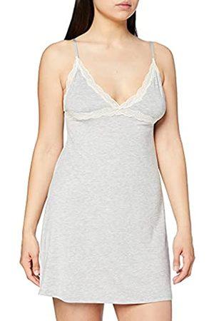 IRIS & LILLY Amazon-Marke: Damen Ärmelloses Nachthemd aus Modal, Grau (Heather Grey), L