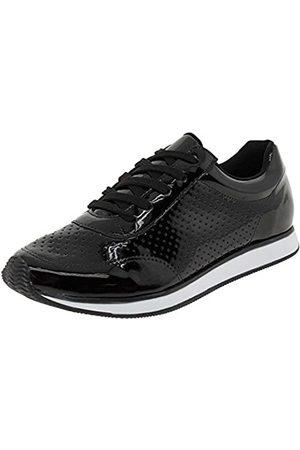 VIA MARTE Damen 1716501 Sneakers, Schwarz/Schwarz, (schwarzer lack)