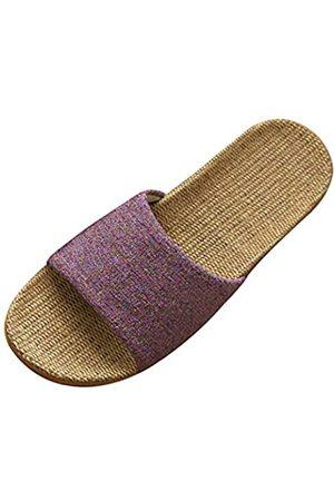 XINGYUE Flax Tatami Slippers No Slip Indoor Slippers Open Toe