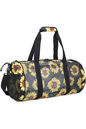 BTOOP Große faltbare Strandtasche mit Reißverschluss und mehreren Taschen, Netz-Strandtaschen für Frauen