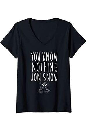 Game of Thrones Damen You Know Nothing T-Shirt mit V-Ausschnitt