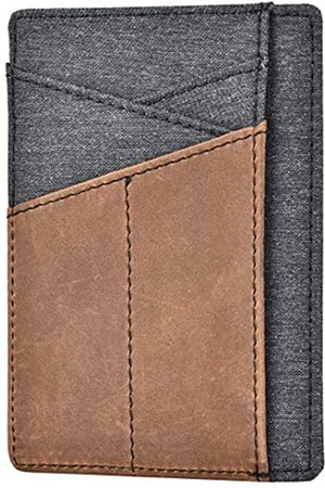 Spiex Schlanke Brieftaschen-Vordertasche, minimalistisches Echtleder