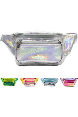 PYFK Holografische Bauchtasche, modische Festival-, Party-Crossbody-Tasche für Frauen und Mädchen, glänzende Tasche mit verstellbarem Gürtel für Reisen, Party