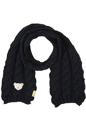 Steiff Mädchen mit süßer Teddybärapplikation Schal, Navy