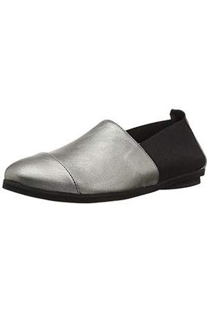 Andre Assous Damen Chic Loafer flach, Silber (Zinnfarben)