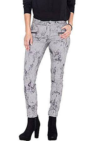 ATT Damen Slim Fit Jeans Mit Streifen Im Used Look Leoni