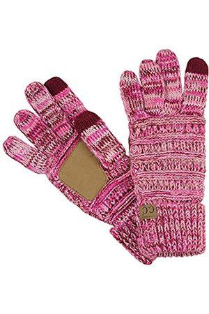 C.C Unisex Zopfstrickhandschuhe für den Winter, rutschfest