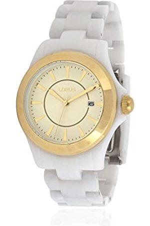 Lorus Damen Analog Quarz Uhr mit Polyurethan Armband RH976EX9_Dorado