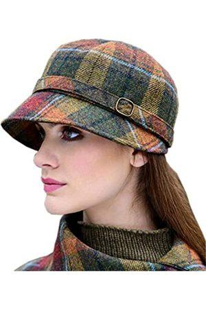 Mucros Weavers Flappermütze für Damen, kariert, hergestellt in Irland, Ernte Sonnenuntergang