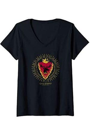 Game of Thrones Damen Stannis Baratheon Burst Sigil T-Shirt mit V-Ausschnitt