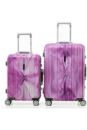 Shaik ® SH008 Designer Koffer Serie Marble - DEL 2X TSA Schloss Material Polyphthalamide (Grau