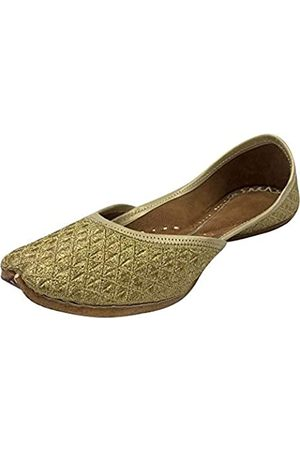 Step N Style Zari Punjabi Jutti für Damen, ethnisch, handgefertigt, Mojari Designer Jutti