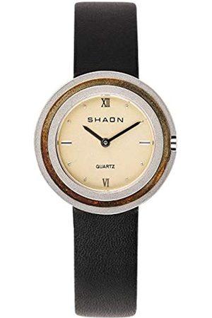 Shaon Herren Analog Quarz Uhr mit Leder Armband 36-6014-24