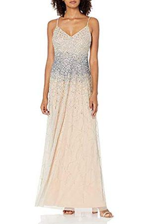 Adrianna Papell Damen Abendkleider - Damen Beaded A-LINE Gown Kleid für besondere Anlässe