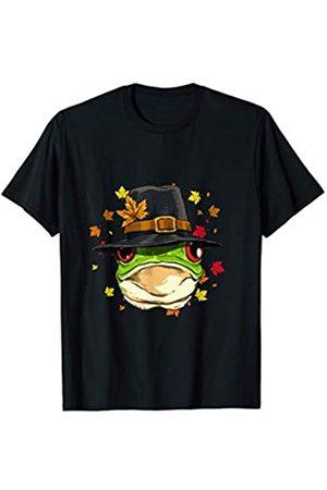 Wowsome! Thanksgiving Frog Pilgrim Costume Men Women T-Shirt