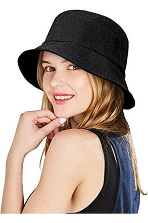 DOCILA Damen Hüte - Purecolor Fischerhut aus natürlichem Leinen für Damen, verstaubar, Bio-Anglerhüte, leicht