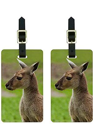 Graphics and More Graphics & More Kangaroo-Australian Gepäckanhänger/Gepäckanhänger (Weiß) - Luggage.Tags.5462