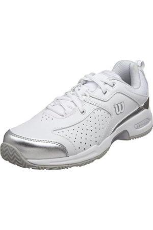 Wilson Women's Pro Staff Open Tennis Shoe,White/Silver