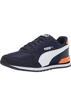 PUMA Unisex Child St Runner 2 Mesh Running Shoe, Peacoat- White-Vibrant