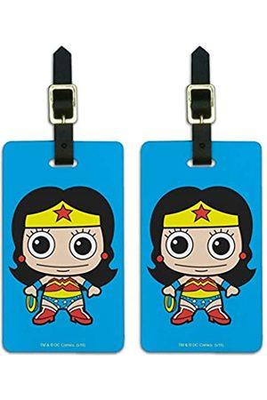 Graphics and More Wonder Woman Cute Chibi Gepäck ID Tags Koffer Handgepäck Karten – Set von 2