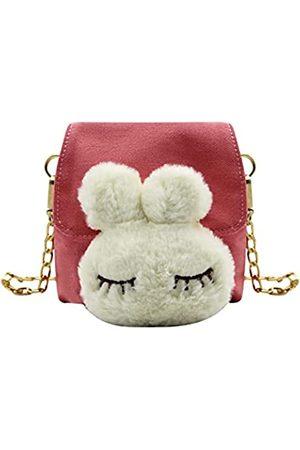 MOSSTYUS Süße Kinder-Umhängetasche, kleine Umhängetasche, Handytasche, Geldbörse, Handtasche, Pink (rose)