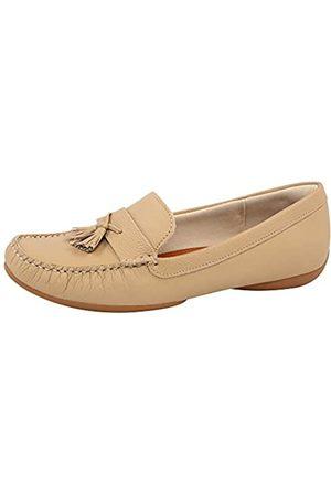 USAFLEX Damen Loafer, Stilvoll und Bequem Echtes Leder Slip-On Mokassin
