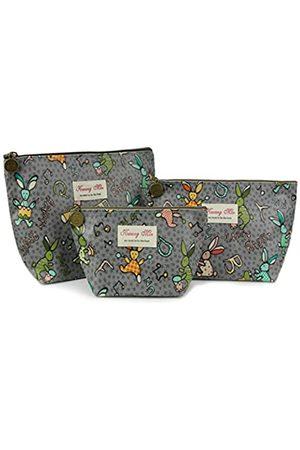 Micom Kosmetiktaschen-Set für Damen, Mädchen, Retro-Design, Blumenmuster
