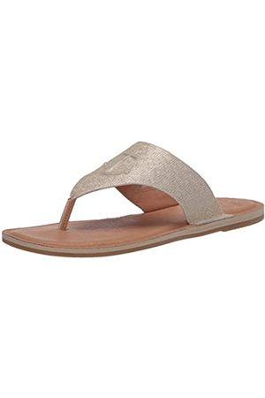 Sperry Damen Seaport Thong METALLIC Leather Sandale