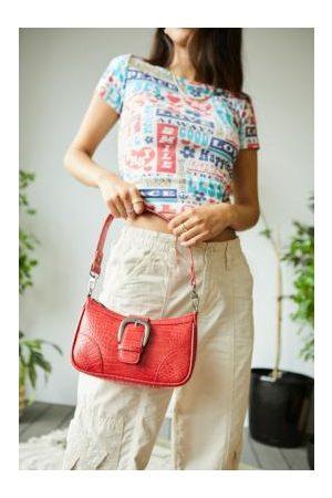 Urban Outfitters Damen Umhängetaschen - UO - Schultertasche aus Krokodillederimitat mit Schnalle