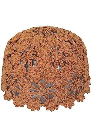 ZLYC Damen Häkelmütze aus Baumwolle, handgefertigt, mit Cutout, Blumenmuster
