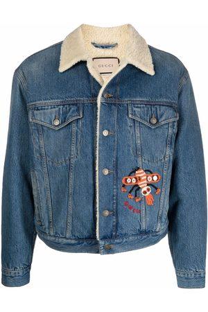 Gucci Herren Jeansjacken - Faux-shearling collar denim jacket