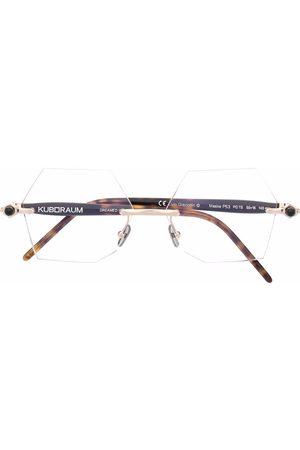 KUBORAUM Sechseckige Brille in Schildpattoptik