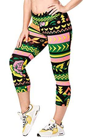 Zumba Fitness Zumba Aktiv Fitness Kompression Capri-Leggings Stilvoll Sporthose Damen mit Print