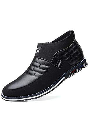 COSIDRAM Herren Freizeitschuhe High Top Fahrstiefel Luxus Walking Sneakers für Männer Business Loafer Büro Kleid Outdoor, (A/ )